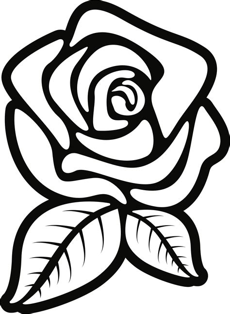 flower outline png - Rose Clipart Outline Great Free