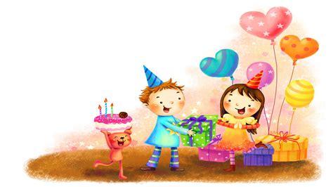 birthday wallpaper with cartoon happy birthday cartoon celebrations wallpaper