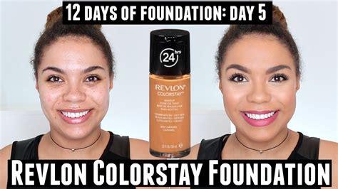 Review Dan Foundation Revlon Revlon Colorstay Foundation Review Skin 12 Days Of