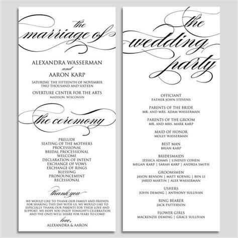 Wedding Program Template Wedding Program Printable Ceremony Printable Template Pdf Instant Wedding Ceremony Program Templates