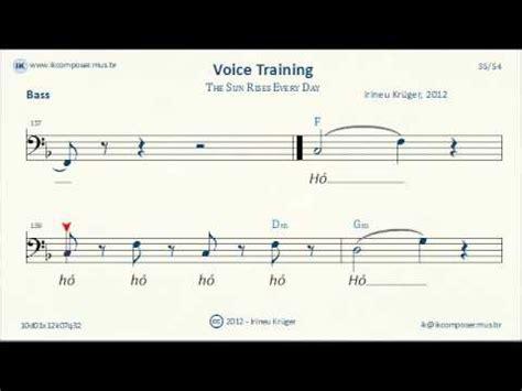 voice training program voice training bass the sun rises every day youtube
