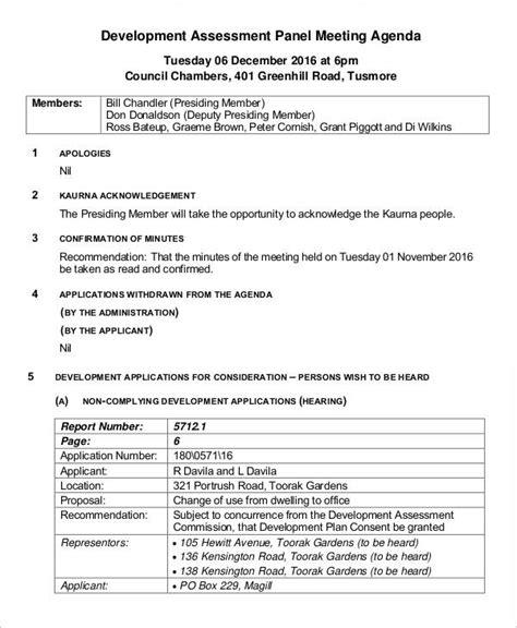 business development meeting agenda template 14 sle development agenda free sle exle