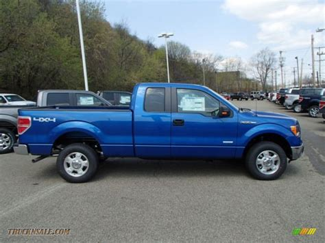 ford truck blue 2013 ford f150 xlt supercab 4x4 in blue metallic