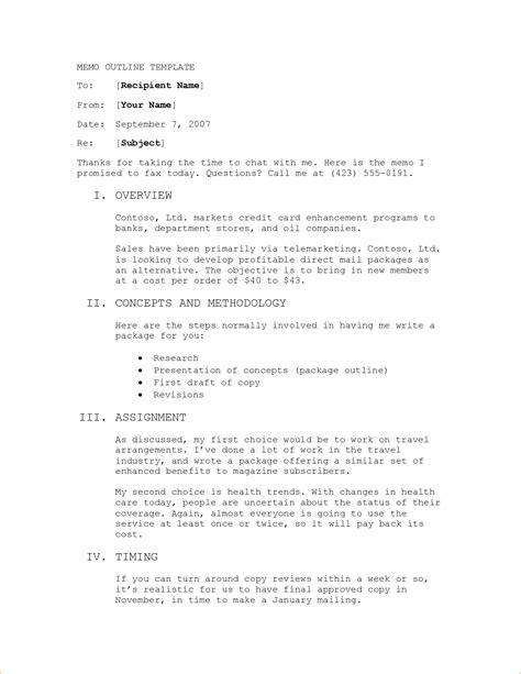 memo outline template 8 memo outline memo formats