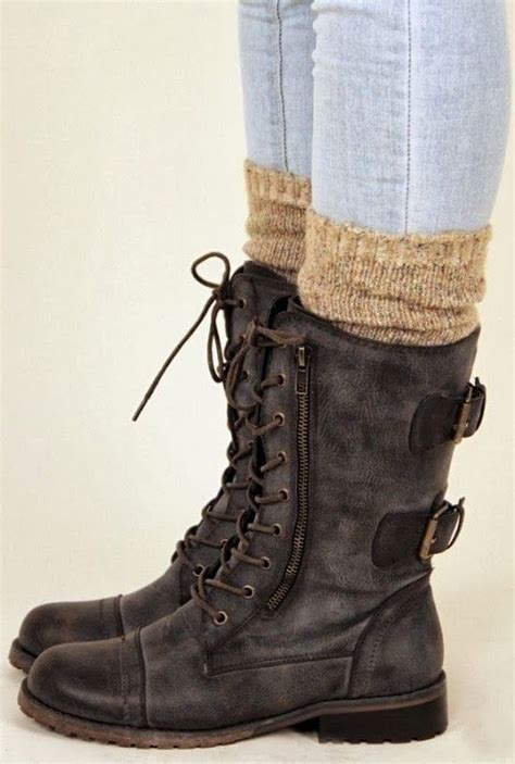 black leather compact fall boots winter fashion