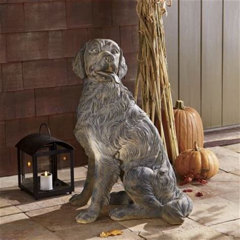 golden retriever statues golden retriever statue from through the country door
