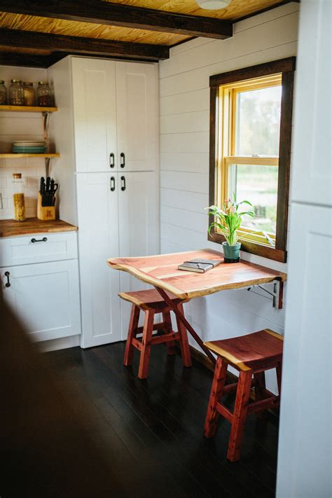 tiny home dining table the chimera wind river tiny homes