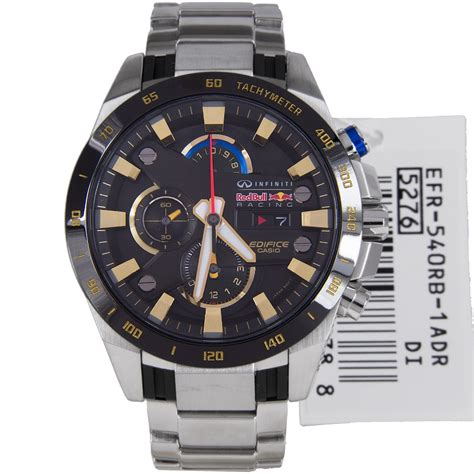 Casio Edifice 8051 Silver Box casio efr 540rb 1a mens edifice bull black silver