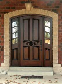 Outside House Doors Wood Entry Doors Applied For Home Exterior Design Traba