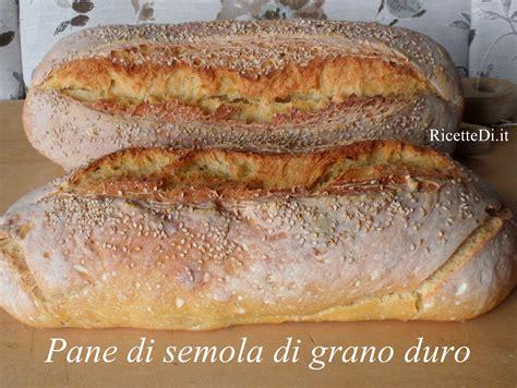 pane di semola fatto in casa pane di semola di grano duro ricettedi it
