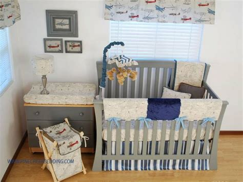 Transportation Crib Bedding Map Print Crib Bedding With Navy And Blue And Airplanes For A Transportation Theme Nursery