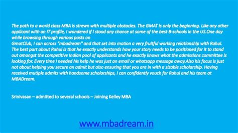 Best Mba Admission Consultants In Mumbai by Testimonials Best Mba Admission Consultants In Mumbai
