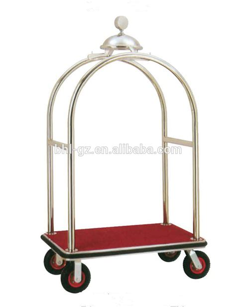 Trolley Bellboy gold hotel luggage trolley bellboy serve trolley factory