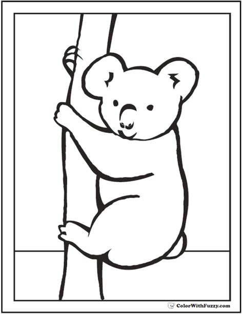 realistic koala coloring pages koala coloring pages for kids hop a ride with a koala