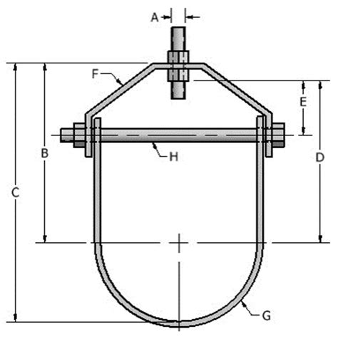 Plumbing Pipe Hangers And Supports by Clevis Hanger Light Duty Fig 600
