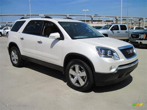 2010 gmc acadia interior 2010 white tricoat gmc acadia slt 28759399 photo