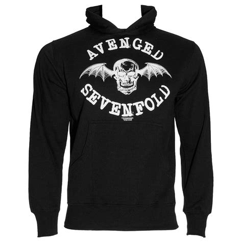 Pullover Hoodie Avenge Sevenfol Logo avenged sevenfold logo hoodie a7x merch band hooded sweater