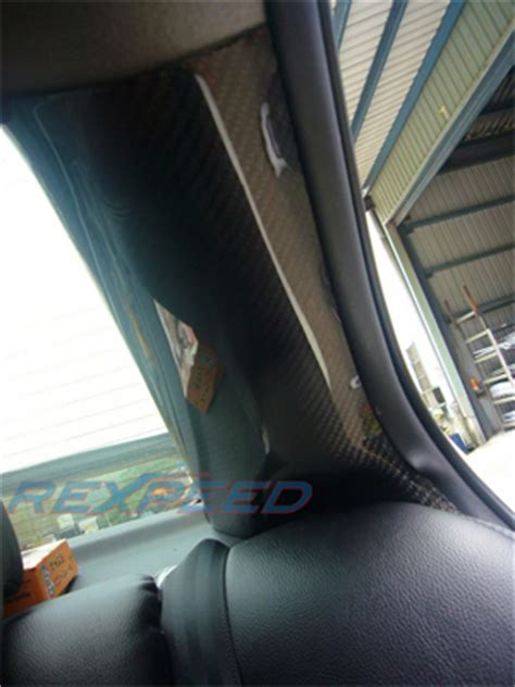 Evo X Interior Upgrades by Rexpeed Carbon Fiber C Pillar Set Evo X Evo X Interior