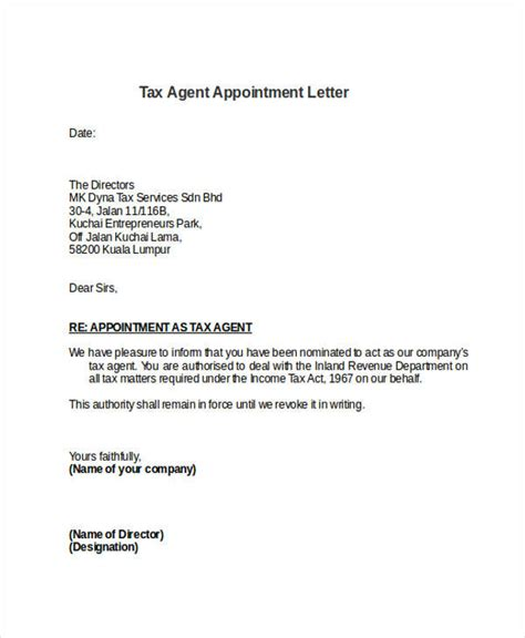 business appointment letter exle appointment letter format travel agency 28 images 7