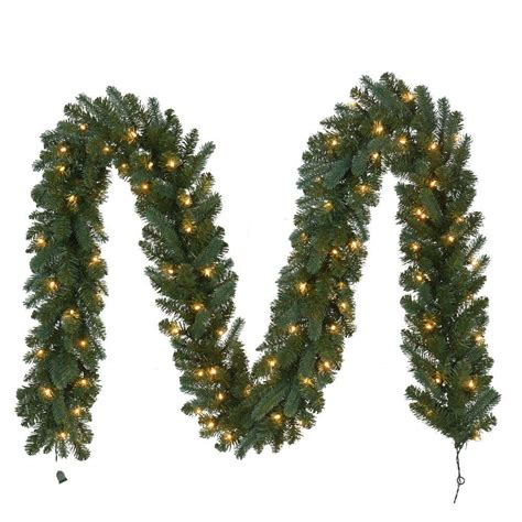 outdoor pre lit garland 12 ft pre lit fairwood garland x 340 tips with 100 ul