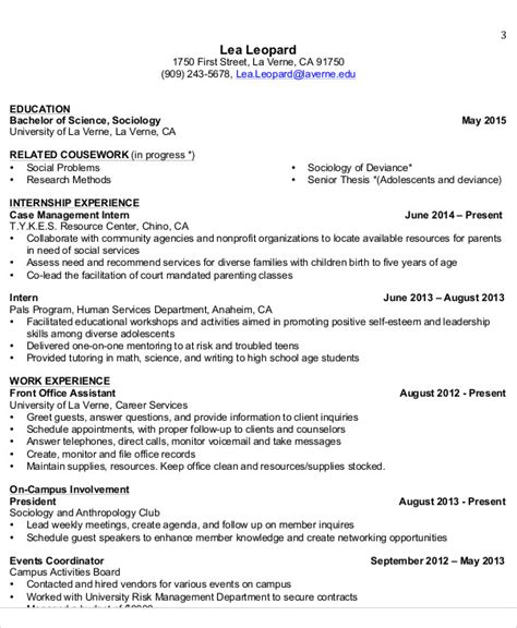 Internship Cv Template by 10 Sle Internship Curriculum Vitae Templates Pdf