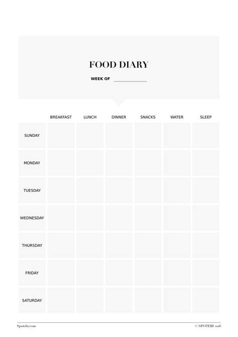 food and exercise diary template 25 best ideas about food diary on paleo diet