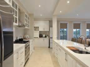 Galley Kitchen Designs by Modern Galley Kitchen Design Using Stainless Steel