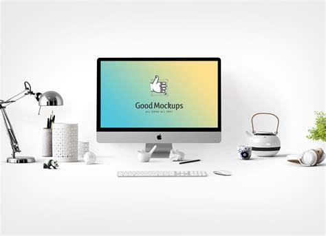 Desktop Pen Holder free 3d render of apple imac mockup psd good mockups