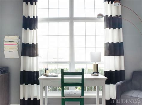 Black And White Stripped Curtains Diy Black White Striped Curtains