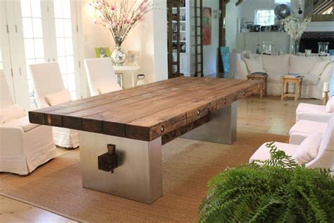 Cono Square Coffee Table custom barn wood dining table by j r signature creations