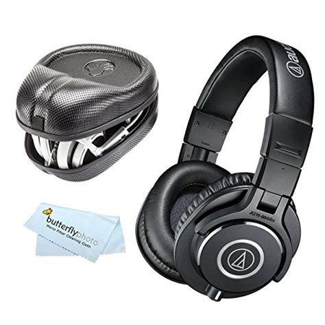 Headphone Audio Technica M40x audio technica ath m40x professional studio monitor headphones slappa sized hardbody pro