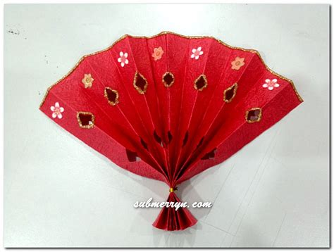 Cny Paper Craft - diy new year decorations fan 171 home is