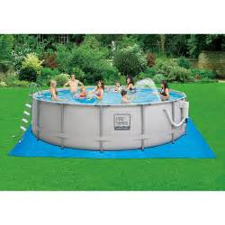 Escapes 16 x 48 quot metal frame above ground swimming pool walmart com
