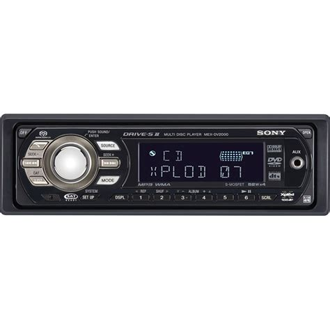 Sony Mex 1gp Cd Player With Built In Mp3 Memory At Crutchfield Sony Mex Dv2000 In Dash Am Fm Dvd Cd Sacd Mp3 Wma Player With Remote