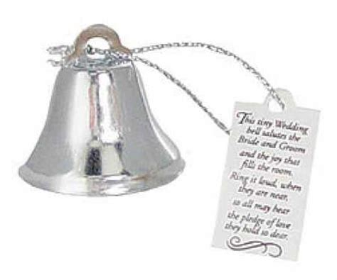 24 wedding silver metal bells favors w poem ebay - Wedding Bell Poem