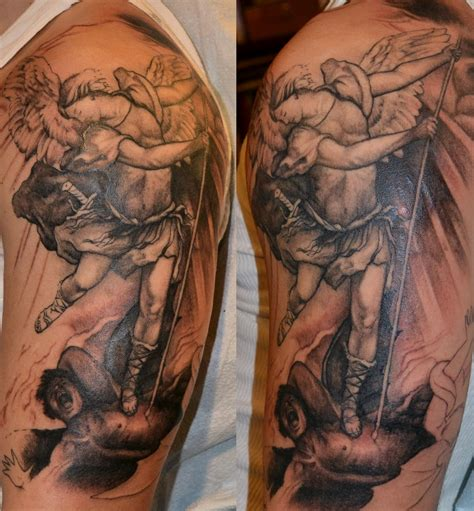 saint michael tattoo tattoos by trerrotola st michael in progress
