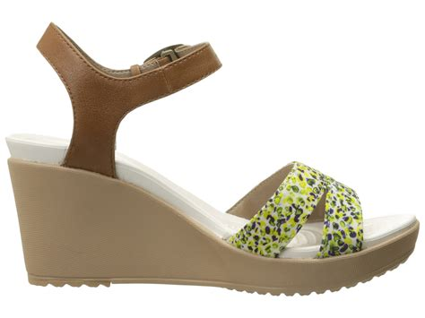 Crocs Womens Leigh Ii Ankle Graphic Wedge Angkel Angkle crocs leigh ii ankle graphic wedge hazelnut gold zappos free shipping both ways