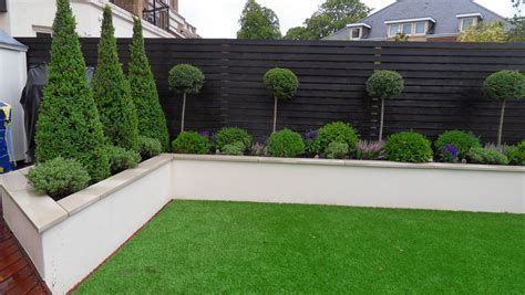 rendered wall but without capping note colour of wooden fence garden ideas