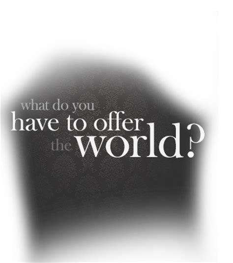 What An Offer by Pellegrino Castronovo What Do You To Offer The World