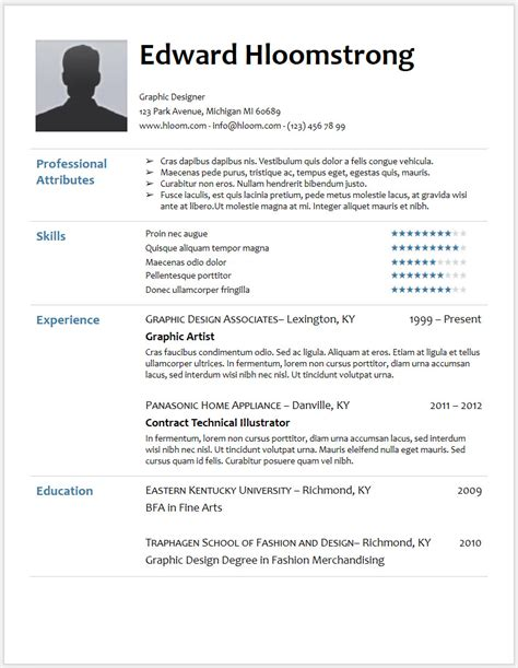 Resume Template Docs by 12 Free Minimalist Professional Microsoft Docx And