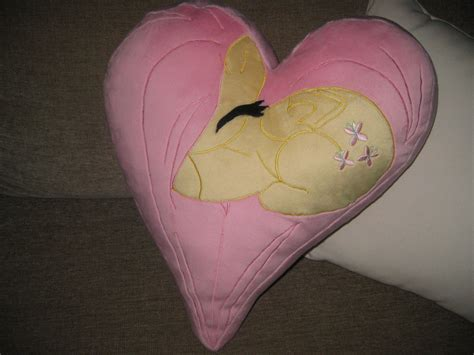 Fluttershy Pillow fluttershy plush pillow by greenteacreations on