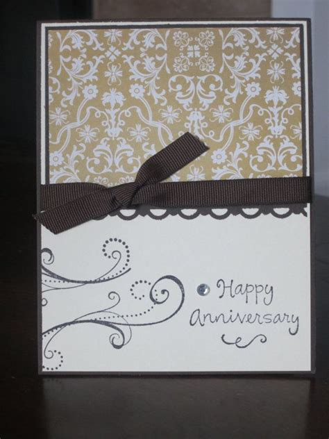 Fancy Handmade Cards - fancy damask happy anniversary handmade greeting card via
