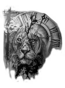 Tattoo clock lion tattoo a tattoo chicano tattoos tattoo designs be