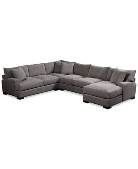 rhyder 4 pc fabric sectional with chaise rhyder 4 pc fabric sectional with chaise furniture macy s