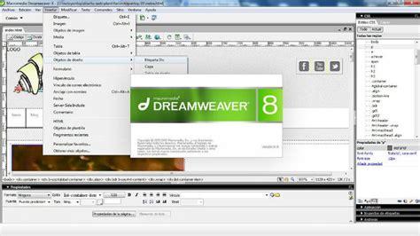 tutorial dreamweaver en español pdf dreamweaver 8 full portable espa 241 ol mg df