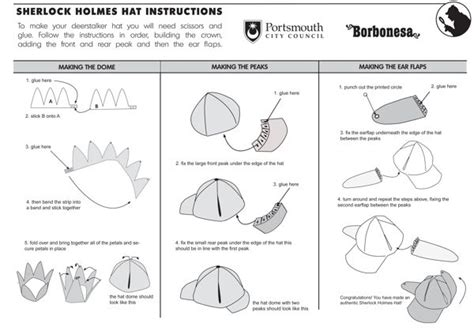 How To Make A Detective Hat Out Of Paper - how to make a sherlock hat for detective badge
