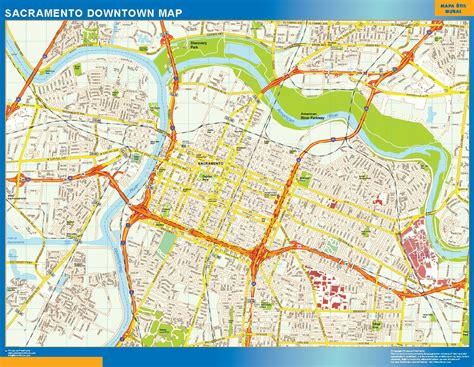 map of sacramento world wall maps store sacramento downtown map more than 10 000 maps our sacramento