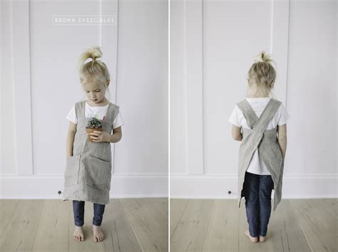 sewing cross back apron cross back pinafore apron sewing pattern adult and child