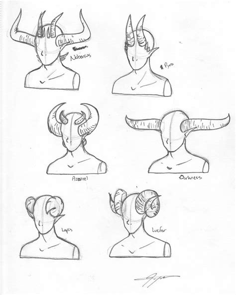 how to draw an anime demon step by step creatures how to draw demon horns google search art pinterest