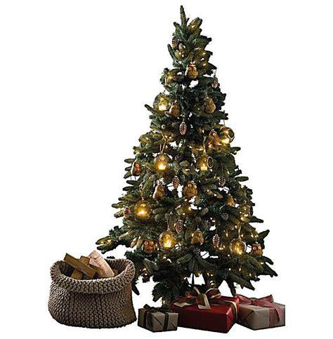 beleuchteter tannenbaum zapfen und schnee weltbild de